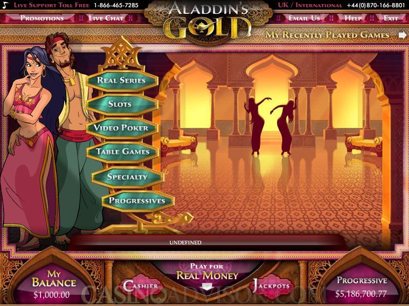 aladdins gold casino promotions